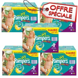 Pampers - Maxi mega pack 410 Couches Baby Dry taille 4+ sur Les Couches