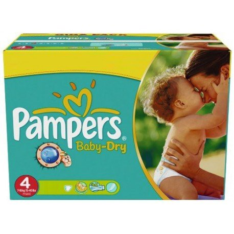 Pampers - Mega pack 176 Couches Baby Dry taille 4 sur Les Couches