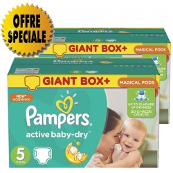 Pampers - Mega pack 116 Couches Active Baby Dry sur Les Couches
