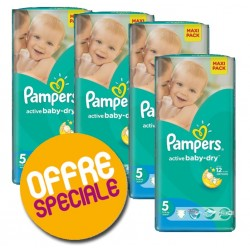 Pampers - Maxi giga pack 348 Couches Active Baby Dry sur Les Couches