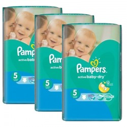 Pampers - Pack jumeaux 580 Couches Active Baby Dry