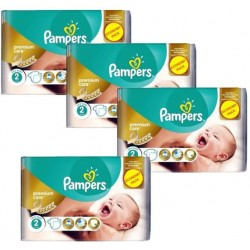 Pampers - 76 Couches New Baby Premium Care taille 2 sur Les Couches