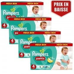 Pampers - Maxi giga pack 348 Couches Baby Dry Pants taille 4 sur Les Couches