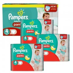 Pampers - Maxi giga pack 377 Couches Baby Dry Pants taille 4