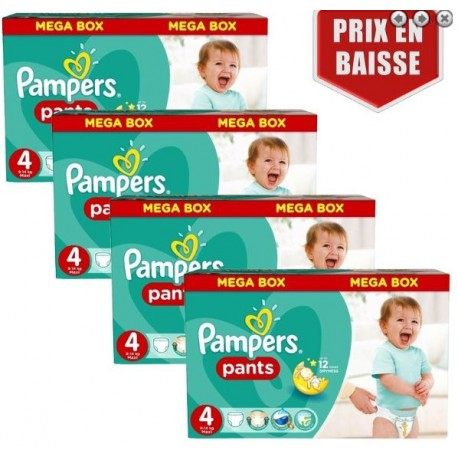 Pampers - Maxi mega pack 406 Couches Baby Dry Pants taille 4 sur Les Couches