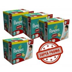 Pampers - Giga pack 208 Couches Baby Dry Pants taille 5