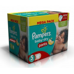 Pampers - Giga pack 260 Couches Baby Dry Pants taille 5