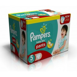 Pampers - Maxi giga pack 312 Couches Baby Dry Pants taille 5