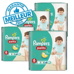 Pampers - Pack 46 Couches Baby Dry Pants taille 6 sur Les Couches