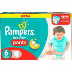 Pampers - Giga pack 207 Couches Baby Dry Pants taille 6 sur Les Couches
