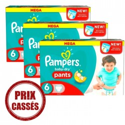 Pampers - Giga pack 253 Couches Baby Dry Pants taille 6 sur Les Couches