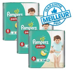 Pampers - Giga pack 276 Couches Baby Dry Pants taille 6 sur Les Couches