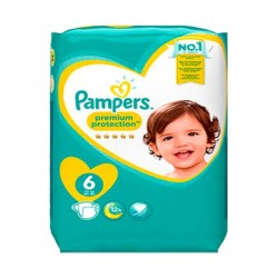 Pampers - Pack 76 Couches New Baby Premium Protection taille 6 sur Les Couches