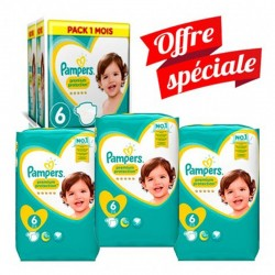 Pampers - Pack jumeaux 532 Couches New Baby Premium Protection taille 6 sur Les Couches