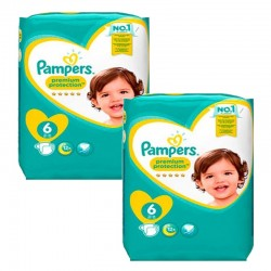 Pampers - Pack jumeaux 608 Couches New Baby Premium Protection taille 6 sur Les Couches