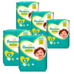 Pampers - Pack jumeaux 760 Couches New Baby Premium Protection taille 6 sur Les Couches