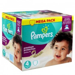 Pampers - Pack jumeaux 1176 Couches Active Fit Premium Protection taille 4