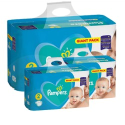Pampers - Mega pack 188 Couches Active Baby Dry taille 2 sur Les Couches