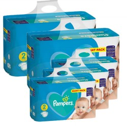 Pampers - Giga pack 282 Couches Active Baby Dry taille 2 sur Les Couches