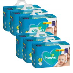 Pampers - Maxi giga pack 376 Couches Active Baby Dry taille 2 sur Les Couches