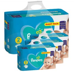 Pampers - Maxi mega pack 470 Couches Active Baby Dry taille 2 sur Les Couches