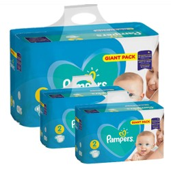 Pampers - Pack jumeaux 658 Couches Active Baby Dry taille 2 sur Les Couches