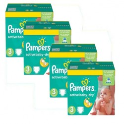Pampers - Pack jumeaux 738 Couches Active Baby Dry taille 3 sur Les Couches