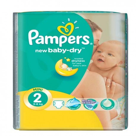 Pampers - Mega pack 144 Couches New Baby Dry taille 2 sur Les Couches