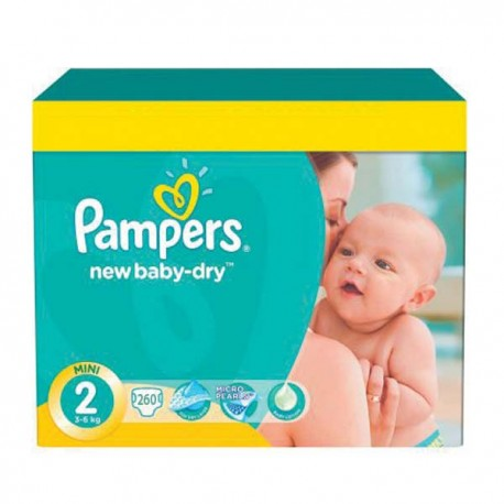 Pampers - Pack jumeaux 576 Couches New Baby Dry taille 2 sur Les Couches