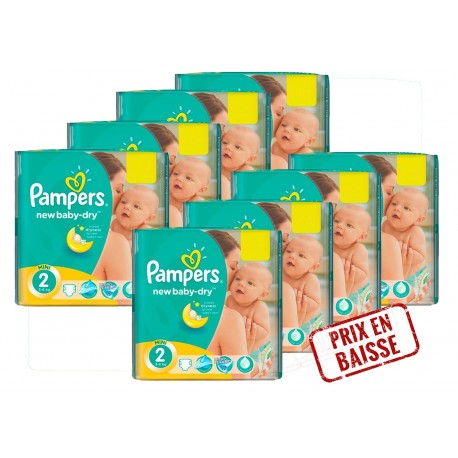 Pampers - Pack jumeaux 864 Couches New Baby Dry taille 2 sur Les Couches