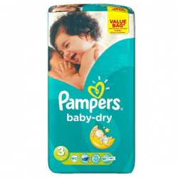 Pampers - Mega pack 116 Couches Baby Dry taille 3 sur Les Couches