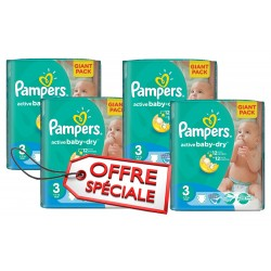 Pampers - Pack 45 Couches Active Baby Dry taille 3 sur Les Couches