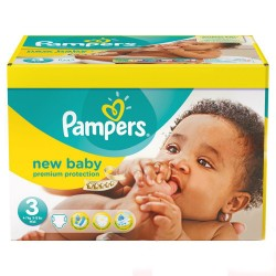 Pampers - Giga pack 220 Couches New Baby Premium Protection taille 3 sur Les Couches