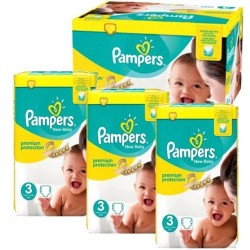 Pampers - Maxi giga pack 380 Couches New Baby Premium Protection taille 3 sur Les Couches