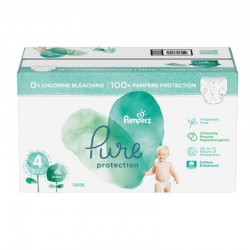 Pampers - Pack 56 Couches Pure Protection taille 4 sur Les Couches