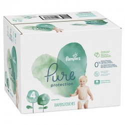 Pampers - Mega pack 140 Couches Pure Protection taille 4 sur Les Couches