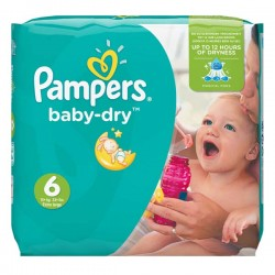 Pampers - Pack 96 Couches Baby Dry taille 6 sur Les Couches