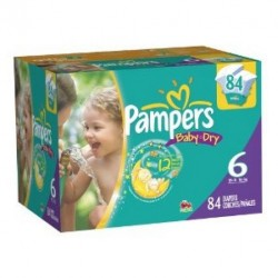 Pampers - Giga pack 288 Couches Baby Dry taille 6 sur Les Couches