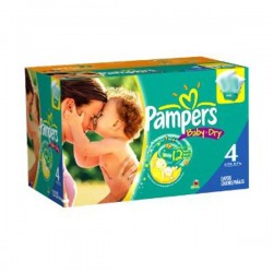Pampers - Maxi mega pack 450 Couches Baby Dry taille 4