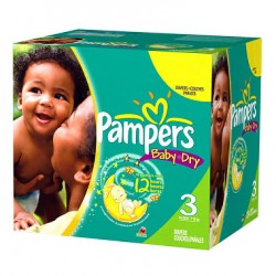 Pampers - Mega pack 120 Couches Baby Dry taille 3 sur Les Couches