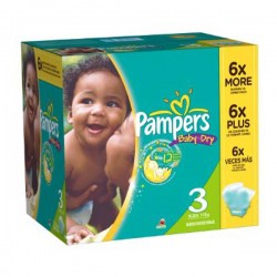 Pampers - Giga pack 210 Couches Baby Dry taille 3 sur Les Couches