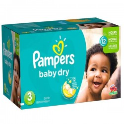 Pampers - Maxi giga pack 390 Couches Baby Dry taille 3 sur Les Couches