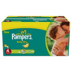 Pampers - Pack 98 Couches Baby Dry taille 4 sur Les Couches