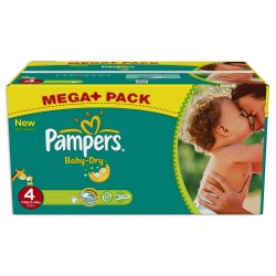 Pampers - Mega pack 147 Couches Baby Dry taille 4 sur Les Couches