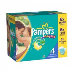 Pampers - Mega pack 196 Couches Baby Dry taille 4 sur Les Couches