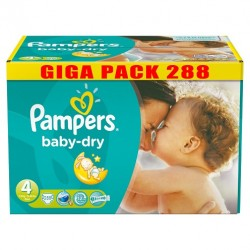 Pampers - Maxi giga pack 343 Couches Baby Dry taille 4 sur Les Couches