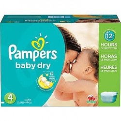 Pampers - Maxi giga pack 392 Couches Baby Dry taille 4 sur Les Couches