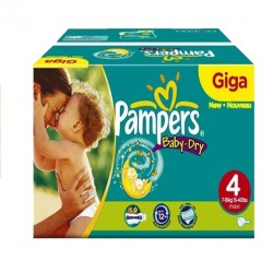 Pampers - Maxi mega pack 490 Couches Baby Dry taille 4 sur Les Couches