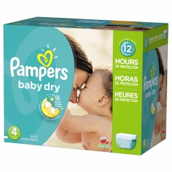 Pampers - Pack jumeaux 588 Couches Baby Dry taille 4 sur Les Couches