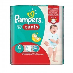 Pampers - Pack 82 Couches Baby Dry Pants taille 4 sur Les Couches